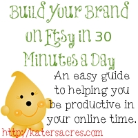 30 Minute Etsy Plan by KatersAcres