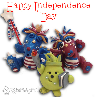 Happy Independence Day from KatersAcres | Get a Coupon to Shop with Us! Use it for characters, figurines, tutorials, & much more!