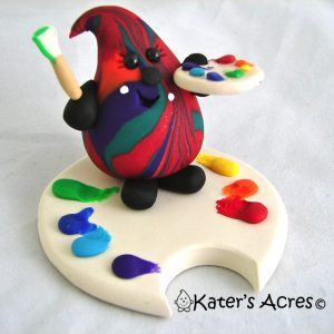 Paint Splash Parker in Primary Colors StoryBook Scene by KatersAcres