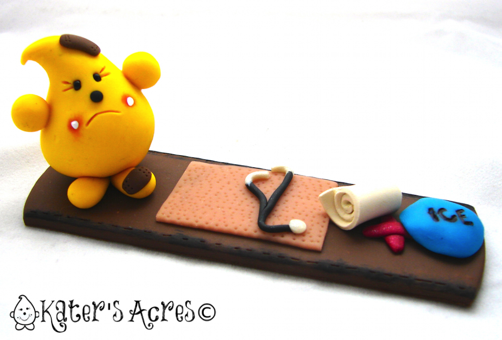 Band Aid Parker - Polymer Clay Figurine by KatersAcres, 2012©