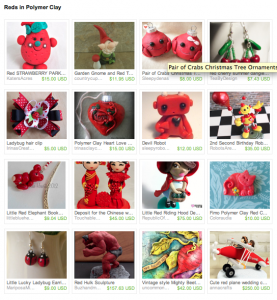 Reds in Polymer Clay Etsy Treasury