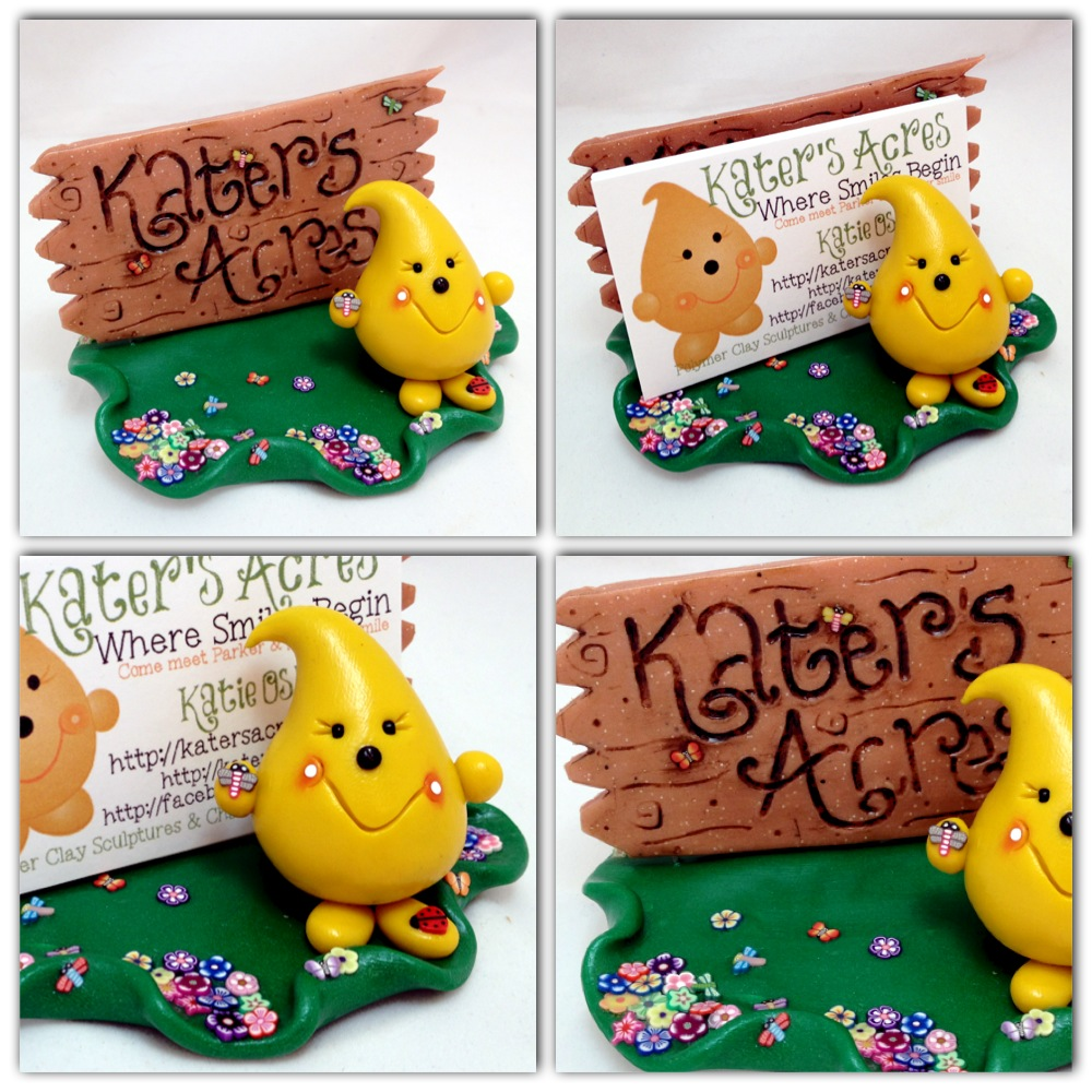 Polymer Clay Parker Business Card Holder for Kater's Acres