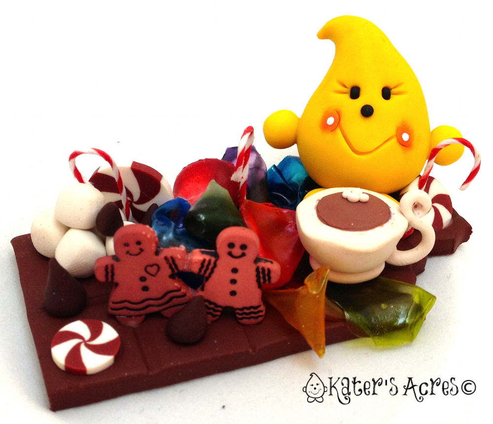Christmas Candy Parker Polymer Clay Figurine 10 for the Twelve Days of Christmas