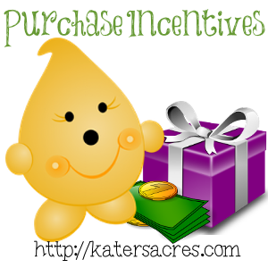 Build Your Brand - Purchase Incentives on http://KatersAcres.com