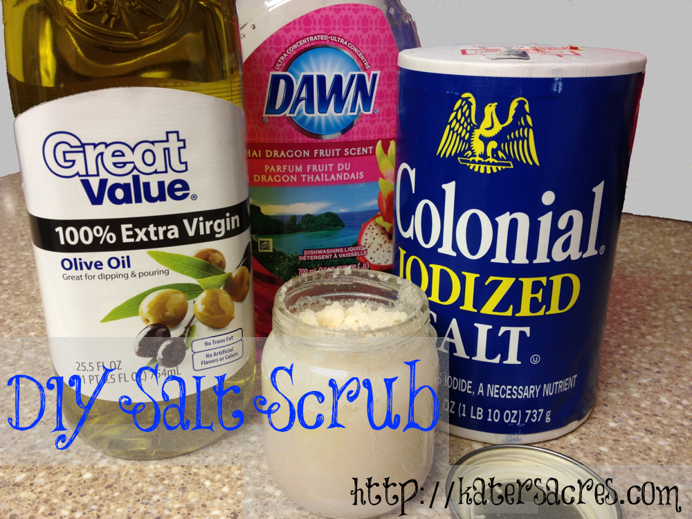 DIY Salt Scrub Recipe for Polymer Clay Artists & Crafters - Less Than $1 per Jar on http://katersacres.com - Repin Now, Make Later