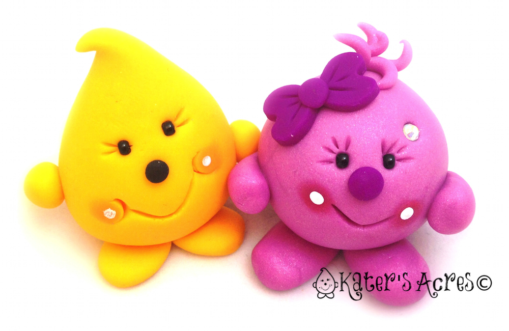 Parker & Lolly - Polymer Clay Characters from KatersAcres