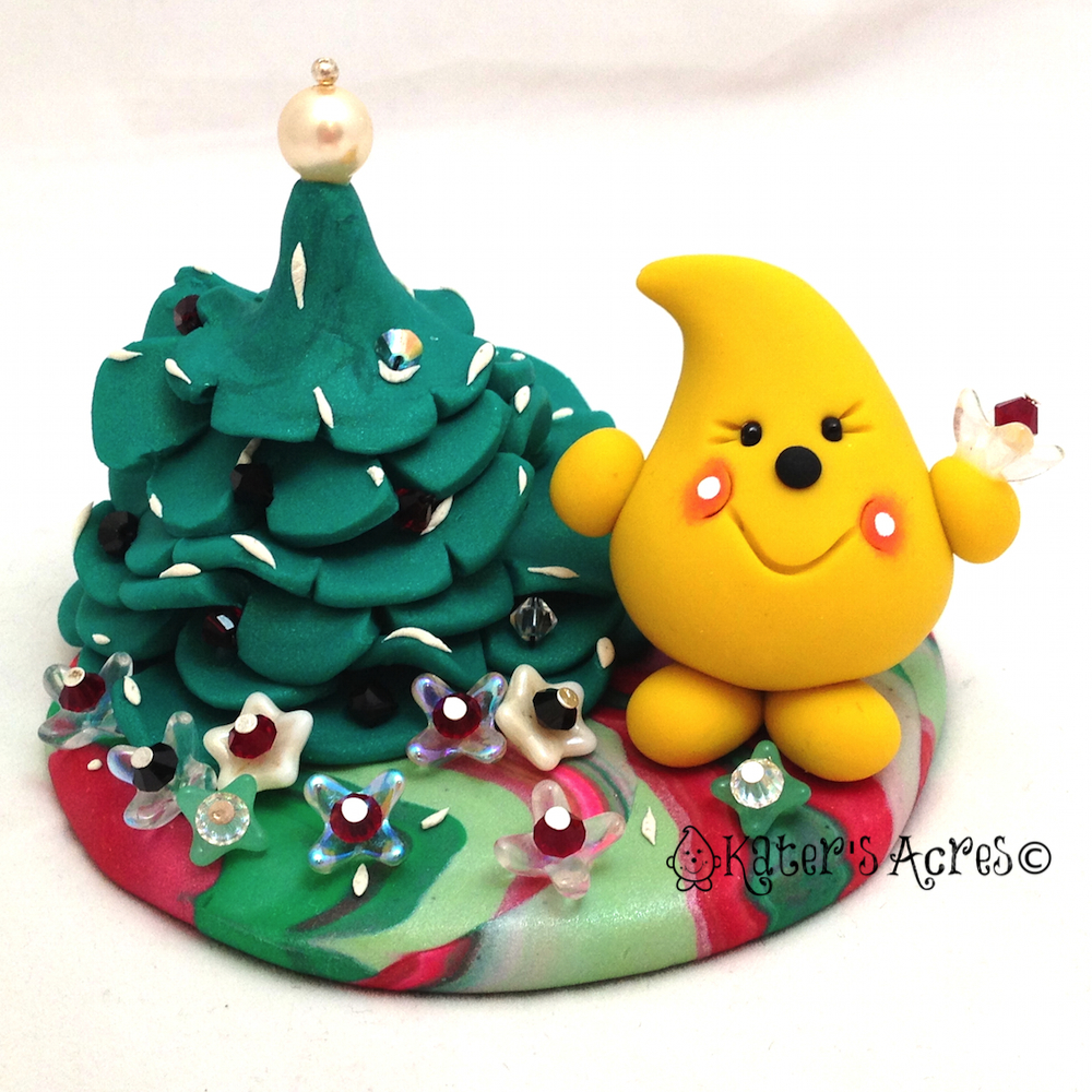 Christmas Tree & Flowers Parker StoryBook Scene by KatersAcres