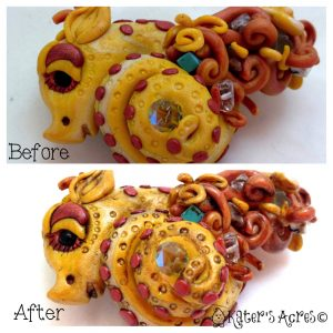 Alfred Patina Before & After Dragon Tutorial by KatersAcres Blog http://katersacres.com