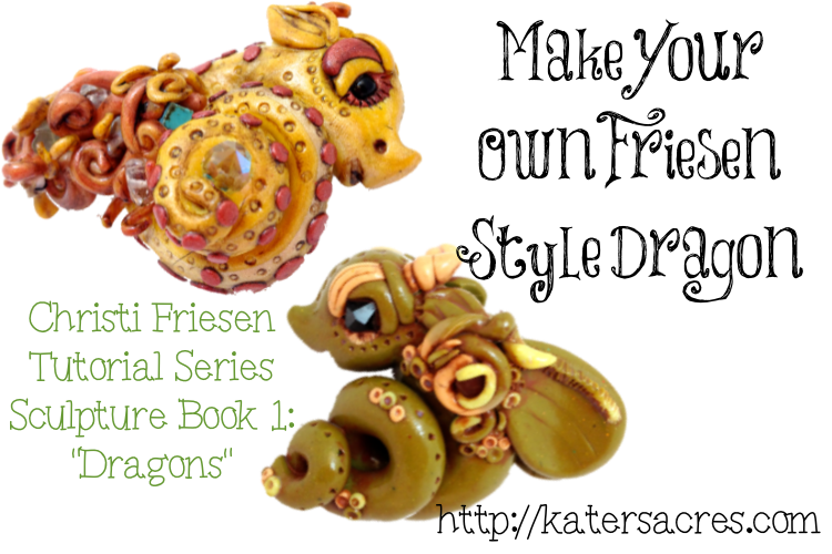 Make Your Own Christi Friesen Style Dragon Tutorial on Kater's Acres Polymer Clay Blog http://katersacres.com