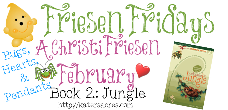 "The Friesen Project - Book 2 ""JUNGLE"" Tutorial for Bug & Heart by KatersAcres http://katersacres.com"