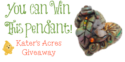 KatersAcres FREE Giveaway Heart Pendant http://katersacres.com - CLICK to enter to win