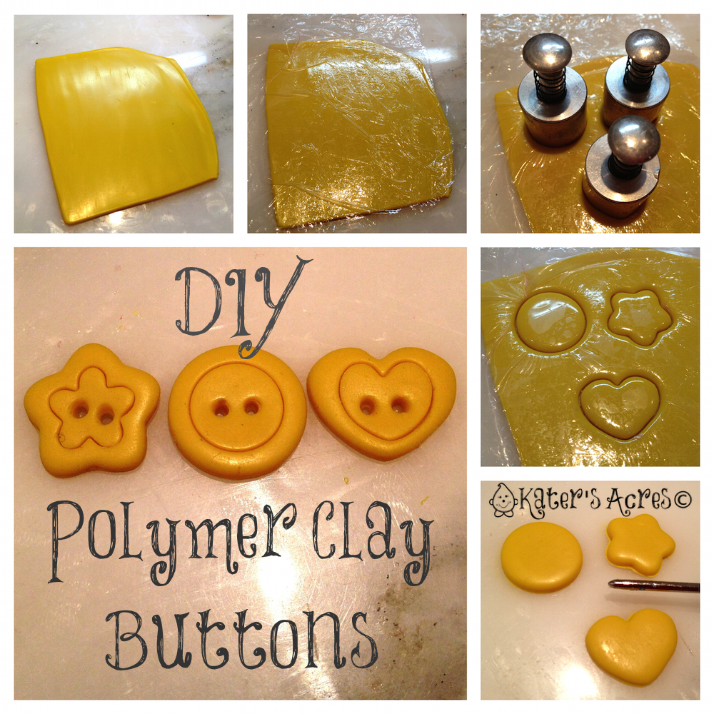 Polymer Clay Tutorial for Simple Buttons on KatersAcres Blog http://katersacres.com