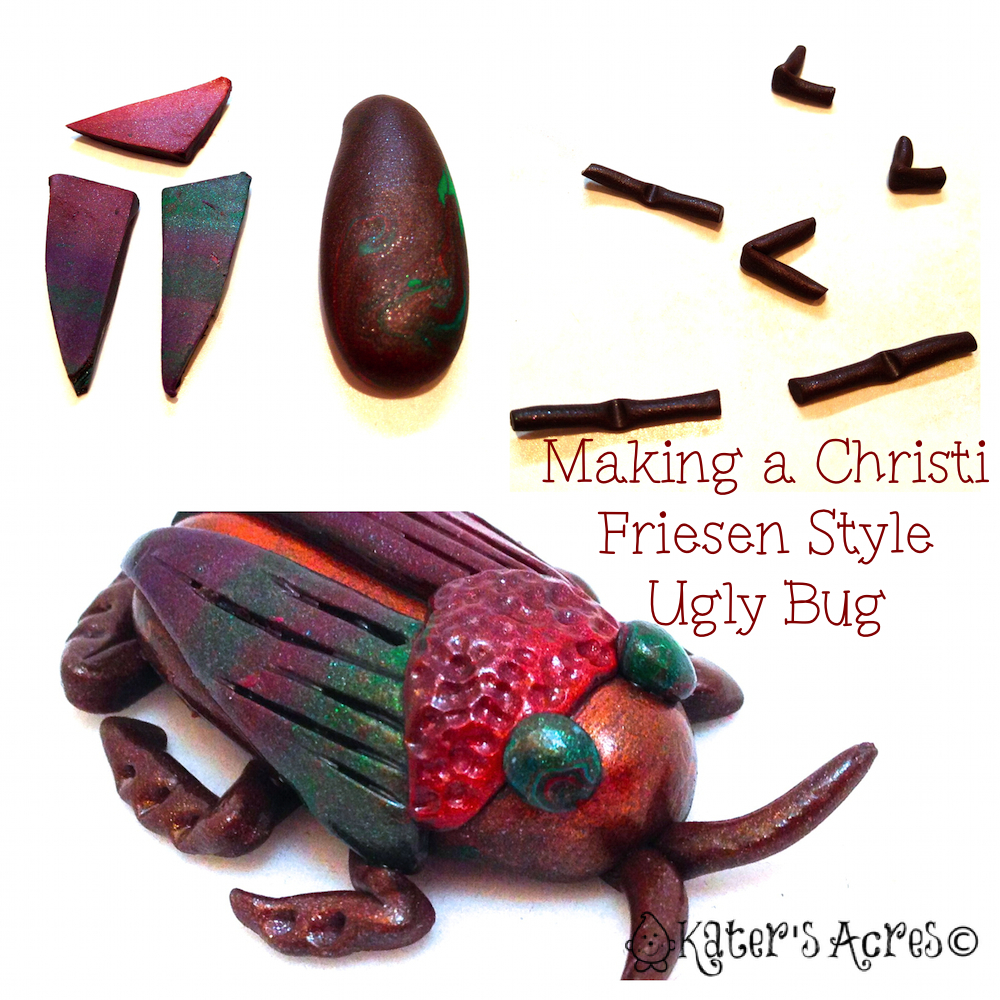 How to Make a Jungle Bug Christi Friesen Style by KatersAcres http://katersacres.com