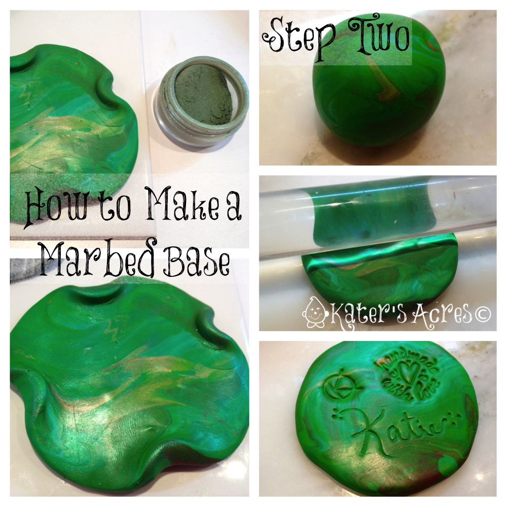 How to Make a Marble Blend - Polymer Clay How-To Tutorial on KatersAcres Polymer Clay Blog http://katersacres.com