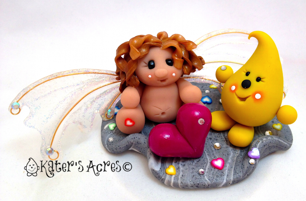 Limited Edition Polymer Clay Sculpture Release - Parker Finds the Love Fairy on KatersAcres Blog http://katersacres.com