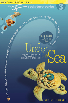 Polymer Clay Book Under the Sea by Christi Friesen - Projects, Review, & Giveaway on KatersAcres Blog https://katersacres.com
