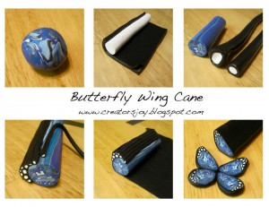 Meg Newberg - Butterfly Wing Cane Free Tutorial on KatersAcres Blog