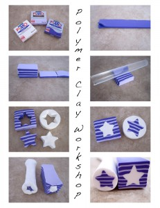 Meg Newberg Polymer Clay Star Cane Free Tutorial on KatersAcres Blog