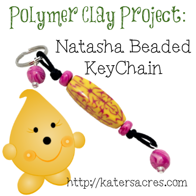 Natasha Beaded Keychain Polymer Clay Projects Tutorial by KatersAcres