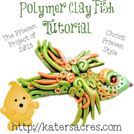 Polymer Clay Fish Tutorial on Kater's Acres Clay Blog