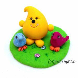 Parker & Birds StoryBook Scene Figurine by KatersAcres