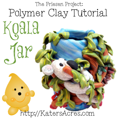 Christi Friesen style Koala Jar Polymer Clay Tutorial