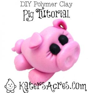 DIY Polymer Clay Pig Figurine