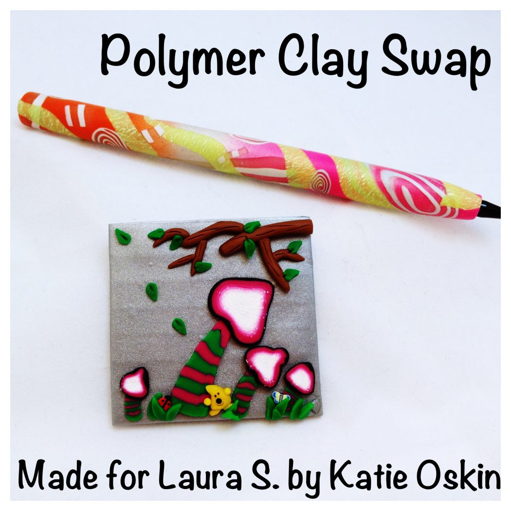 Polymer Clay Swap Items (Pen & Twinchie) by KatersAcres for Laura Schiller