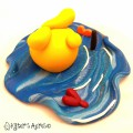 Bottoms Up Parker Polymer Clay Character Figurine by KatersAcres