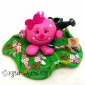 Garden Lolly Figurine StoryBook Scene by KatersAcres