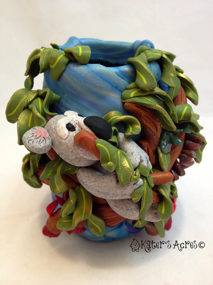 Christi Friesen Style Koala Jar Made by KatersAcres for the Friesen Project of 2013 on KatersAcres Website