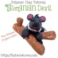Polymer Clay Tasmanian Devil Tutorial by KatersAcres