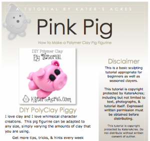 Polymer Clay Pig Tutorial - Instant Download PDF by Kater's Acres | Suitable for fondant, sugar paste, & other sculpting mediums