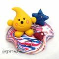 Americana Patriotic Parker - Polymer Clay StoryBook Scene Figurine by KatersAcres