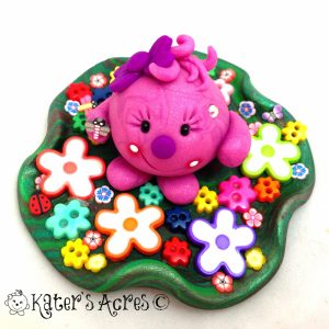 Lolly in her Flower Garden StoryBook Scene by KatersAcres