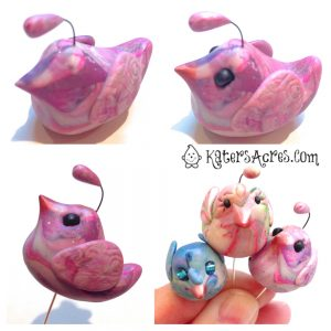Lil Blob Birds - Finish Your Birdie & Make a Plant Pokey by KatersAcres