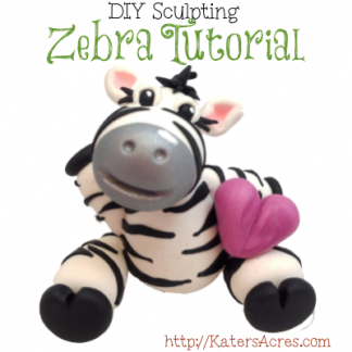 Polymer Clay Zebra Tutorial by KatersAcres | For Polymer Clay, Sugar Paste, Fondant, and Many Other Sculpting Mediums