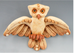 Polymer Clay Owl by Christi Friesen