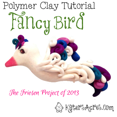 Fancy Bird Tutorial by KatersAcres   For Polymer Clay, Sugar Paste, Gum Paste, Modeling Clay, & Much More
