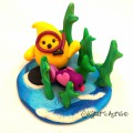 Underwater Parker Polymer Clay Figurine StoryBook Scene by KatersAcres | Hand-sculpted with love & attention to detail