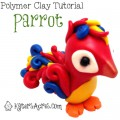Christi Friesen Inspired: Parrot Tutorial by KatersAcres | For Polymer Clay, Fondant, Gum Paste, Sugar Paste, Modeling Clay, and More!