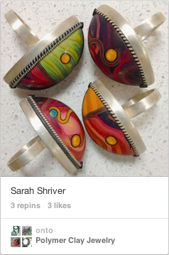 Polymer Clay Rings by Sarah Shriver