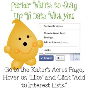 How to Add KatersAcres to Your FaceBook Feed so You Never Miss a Post Again