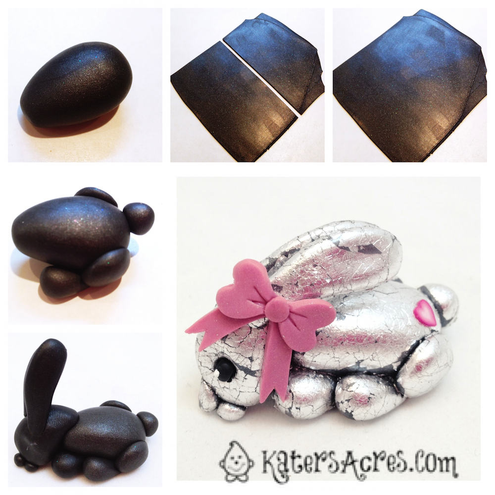 Polymer Clay Rabbit Tutorial Steps by KatersAcres