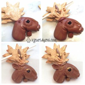 How to Finish Your Polymer Clay Moose on KatersAcres Blog