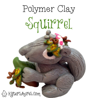 Polymer Clay Squirrel by KatersAcres
