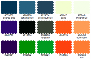 Digitally Generated Halloween Color Palette by KatersAcres