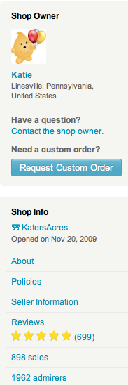 The Updated Etsy Shop Sidebar