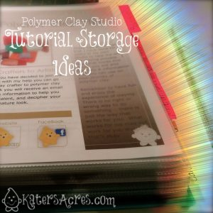 Polymer Clay Tip - Tutorial Storage by KatersAcres