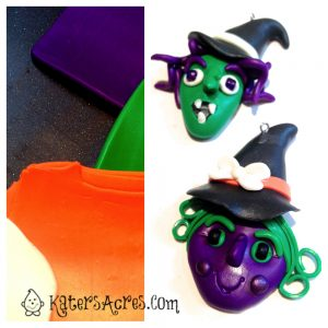 Polymer Clay Witch Tutorial Color Palette by KatersAcres | Great tutorial for pendants, ornaments, or even flat backed charms